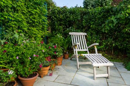 Deckchair auf Terrasse
