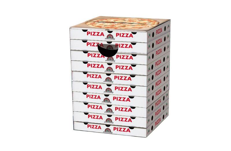 Der Pizza-Papphocker