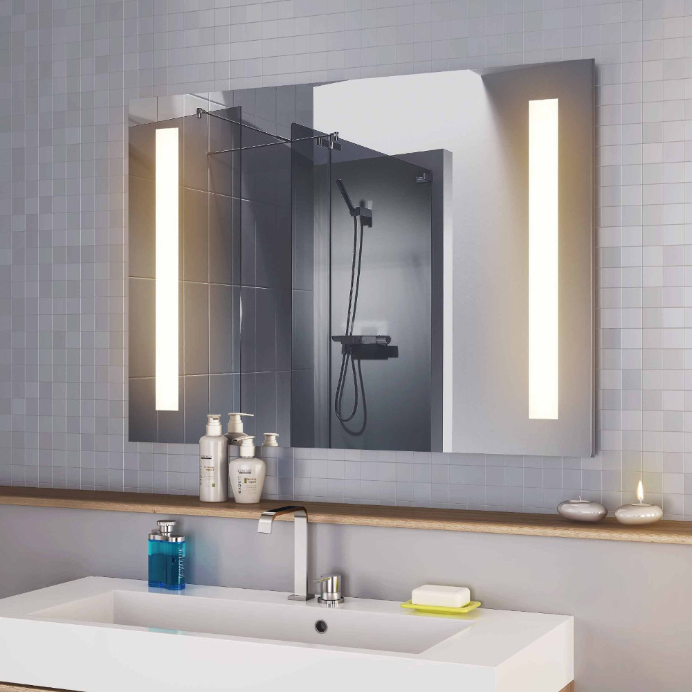 LED-Spiegel mit Innenbeleuchtung Design Linie LE