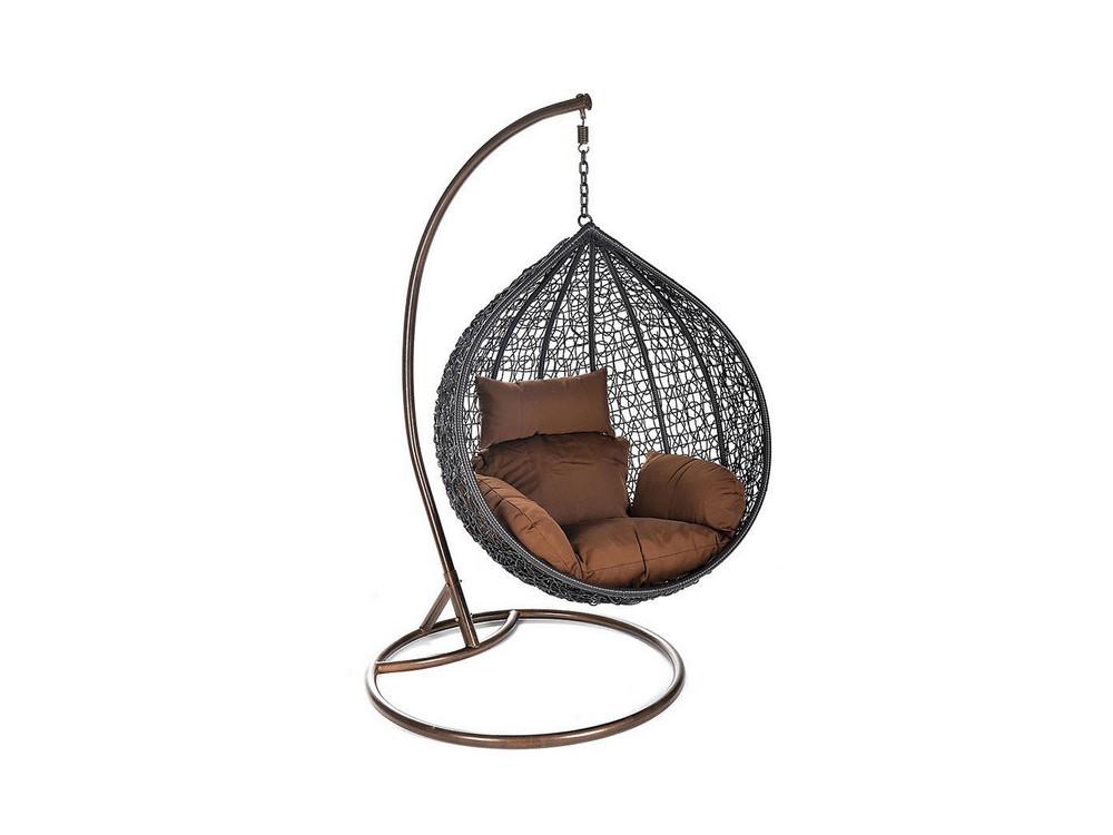 Cielo Polyrattan Hängesessel mit Gestell, Sitz- und Rückenkissen