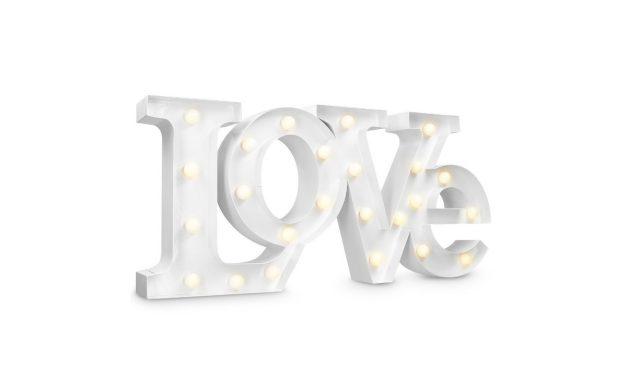 Navaris LED Schriftzug LOVE Dekoleuchte