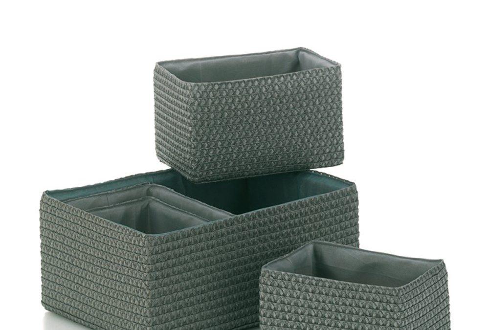 Dekoratives Korb-Set aus Kunststoffgeflecht von Kela
