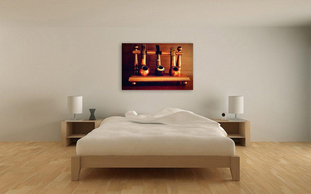Wandbild eines Pfeifenständers