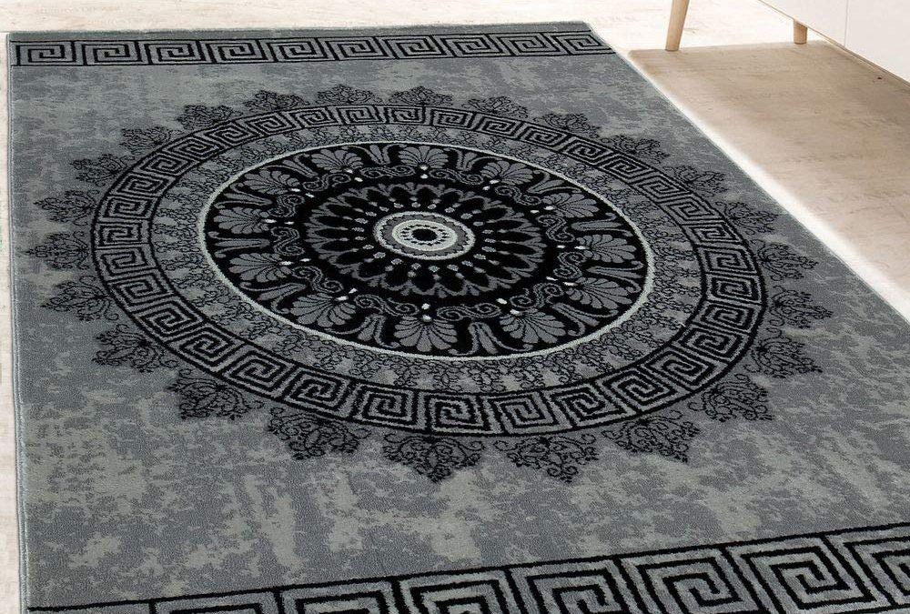 Robuster Designer-Teppich mit Mandala-Muster